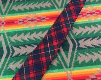 vintage pendleton red check wool tie