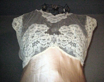 1950s Silk Lace Nightgown