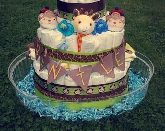 Safari diaper cake (Custom options)