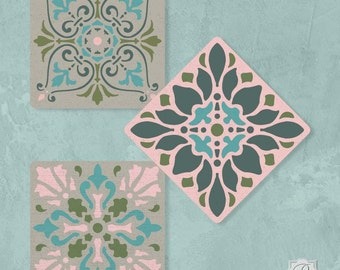 Renaissance Tile Series #1 Stencil from Royal Design Studio ~709L~ New In Package