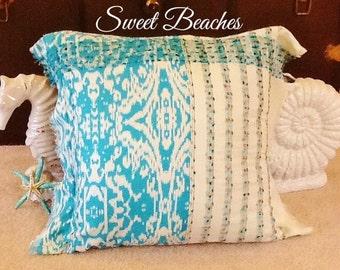 Beach Scarf Pillow Covers Seaside Ocean Nautical Decor by Sweet Beaches