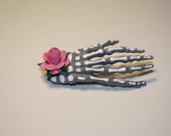 Skeleton Hand Painted Clips
