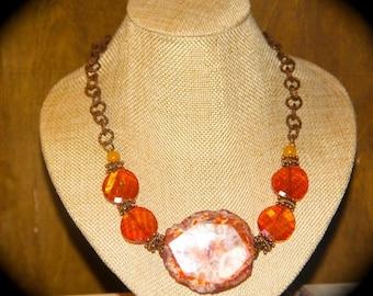 Carnelian - statement piece necklace
