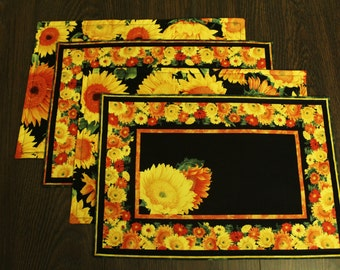 Sunflower Placemats Set of 4