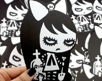 Graveyard - Die Cut Message Card Gift Card