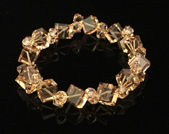 Light Topaz Swarovski Crystal Bracelet