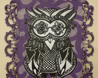 Owl - Stencil Art Painting