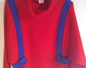Marèse 1980 vintage wool dress