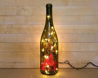 Change, Red, Wine Bottle Light, Finger Lake Wine, Recycled Wine Bottle, New York Wine, Home Decor, Bottle Light, 2013 Wine, Wine Bottle Gift