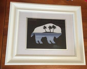 Buffalo with a tropical theme