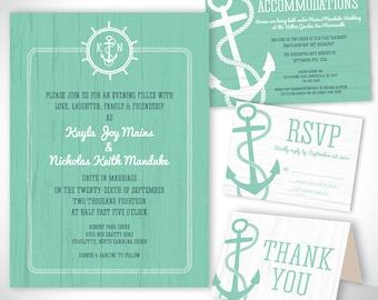 Wedding Invitation - Nautical Wedding Invitation - Printable