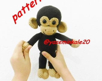 Amigurumi monkey pattern(yaseminkale)