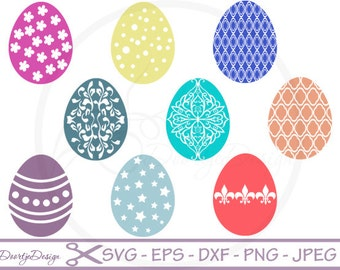 Easter Eggs Collection SVG for cutting machines, SVG files Easter Egg, cricut, Vector Files Easter Egg, silhouette files, dxf files