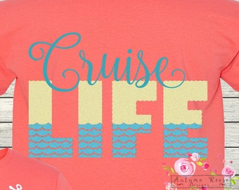 Monogrammed CruiseLife Vacation Personalized T-Shirt Tee Family Cruise Destination