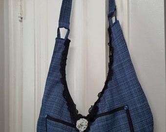 Oversized Trendy Tweed Bag