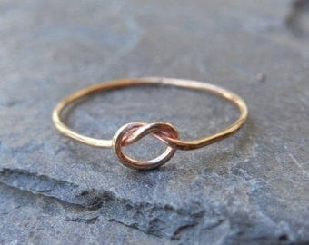 Skinny knot ring, Gold filled ring, or sterling silver 0.925 thin ring, made at your size. Friendship ring, engagement ring, knuckle ring