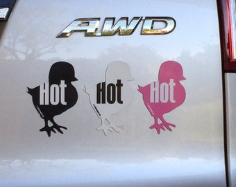 Hot Chick Car Magnet