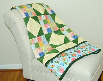 Spring Floral Star Wall Hanging Quilt