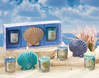 Sea Shell Candles Ocean Mist Scent