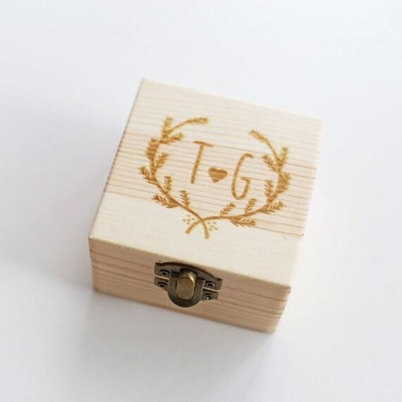Custom wedding ring box personalized wedding ring by for Custom engagement ring box