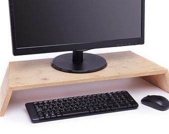 Wooden monitor stand - Oak