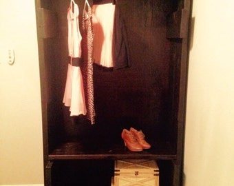 Handcrafted Solid Wood Armoire