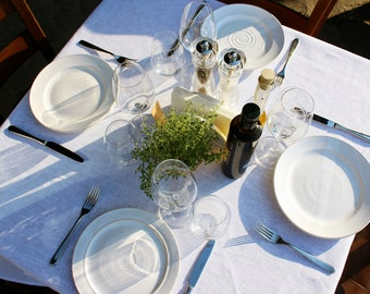 Linens Natural linen tablecloths Table linens white tablecloth Natural tablecloth Simply Table decor Wedding