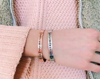 Custom Stamped Copper Cuffs
