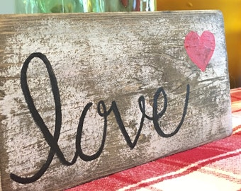 Love - Hand Painted Distressed Sign