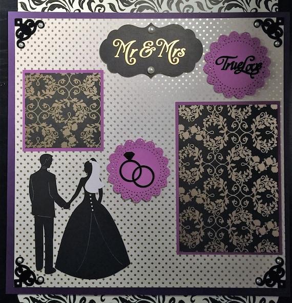Premade 12x12 Scrapbook Page Mr Mrs By CraftsbyMrsWireman