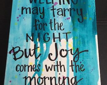 Psalm 30:5 Canvas Wall Art