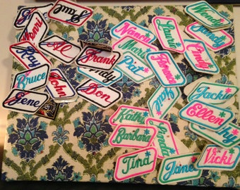 Vintage Name Tag Patches