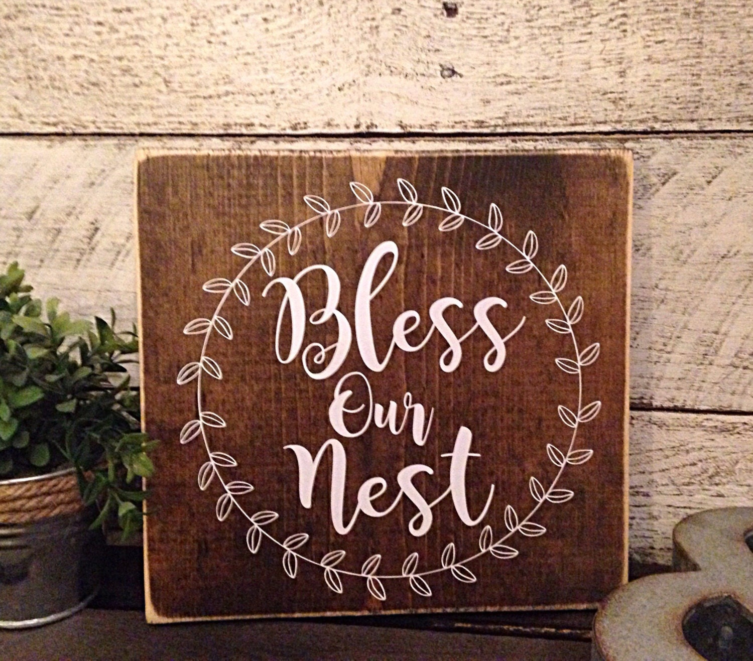 Bless Our Nest Rustic Wall Decor Bless Our Nest Wooden