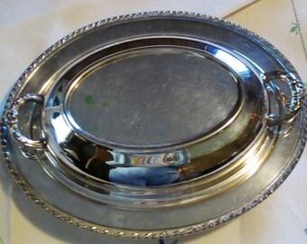 Covered aluminum serving dish