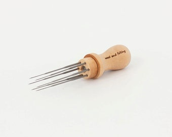 Needle holder with 6 needles. For needle felting. Free Shipping!