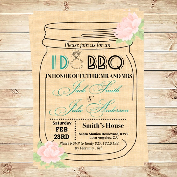 i do bbq invitation template mason jar by diypartyinvitation. Black Bedroom Furniture Sets. Home Design Ideas