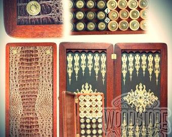 Handcrafted Wooden Backgammon Set