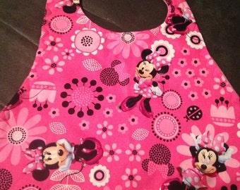 Minnie Mouse Hot Pink Bib