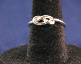 Sterling Silver Figure 8 Knot Ring