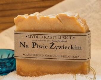 Handmade Castile soap with beer 100g, VEGAN, 100% Natural.