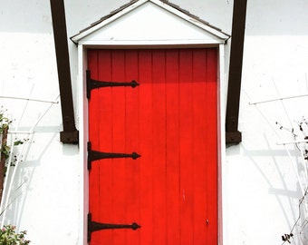 "Photography Print: ""Red Door"" taken in Elk Horn, IA"