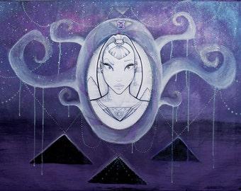 Ancient awakening - painting