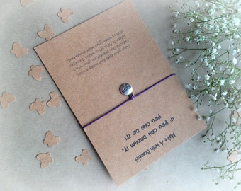Make A Wish Bracelet / Charm Bracelet - If You Can Dream It, You Can Do It / Perfect Motivational Gift