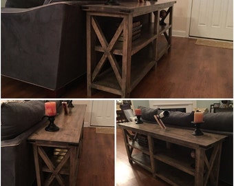Rustic style sofa/entry way table