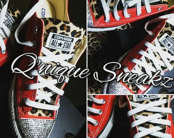 Custom leopard print converse
