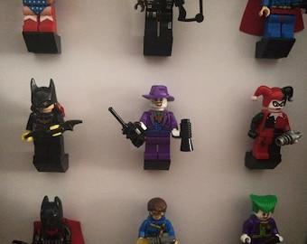 Super hero mini-fig display frame