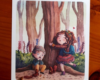 Blade hugging trees.