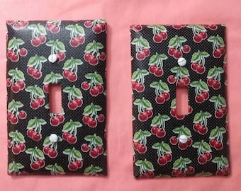 cherry light switch covers