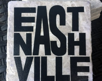 East Nashville tumbled marble coasters, tennessee
