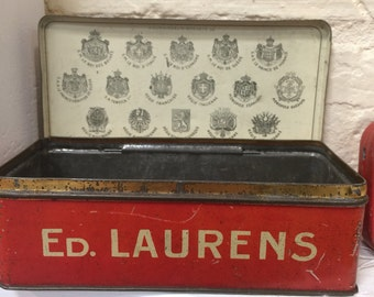 Vintage French cigarette tin Ed LAURENS